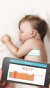 TempTraq Wireless Thermometer in the Form of a Soft, Comfortable Patch Continuously Monitors Body Temperature for 24 Hours, Sends Temperature Alerts to Mobile Devices (PRNewsFoto/Blue Spark Technologies, Inc.)
